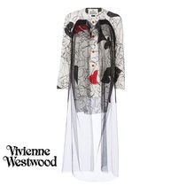 Vivienne Westwood Casual Style Nylon Bi-color Cropped Long Oversized
