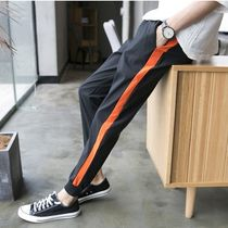 Stripes Street Style Cotton Skinny Fit Pants