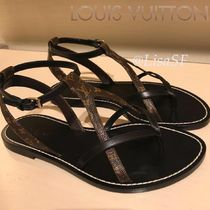 Louis Vuitton MONOGRAM Monogram Open Toe Blended Fabrics Bi-color Leather