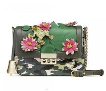 annalisa caricato Flower Patterns Leather Shoulder Bags