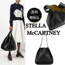Stella McCartney Casual Style Faux Fur A4 Plain Totes