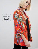 River Island Flower Patterns Casual Style Jackets