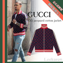 GUCCI Monogram Unisex Street Style Long Sleeves Cotton Sweatshirts
