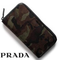 PRADA Camouflage Leather Long Wallets