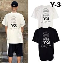 Y-3 Crew Neck Unisex Street Style Cotton Short Sleeves Oversized