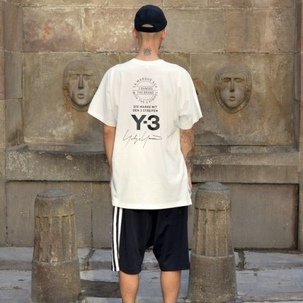 Y-3 Crew Neck Crew Neck Unisex Street Style Cotton Short Sleeves Oversized 4