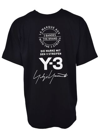 Y-3 Crew Neck Crew Neck Unisex Street Style Cotton Short Sleeves Oversized 5