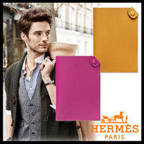 HERMES Unisex Plain Leather Wallets & Small Goods