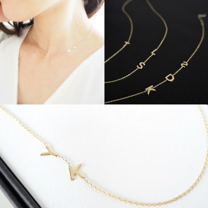 Casual Style Initial Handmade 14K Gold Fine