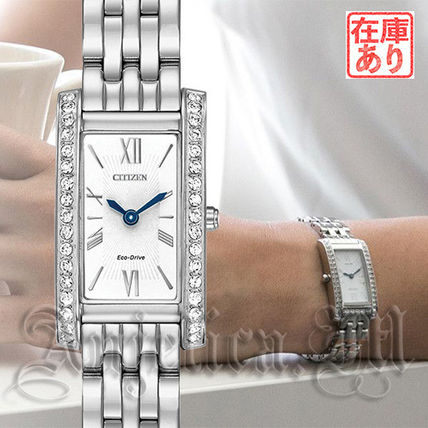 Metal Square Quartz Watches Elegant Style Analog Watches