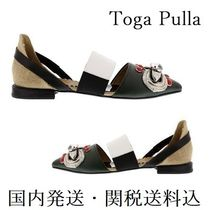 TOGA Casual Style Studded Leather Sandals Sandals