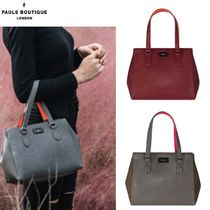 Paul's Boutique Casual Style Street Style Plain Totes