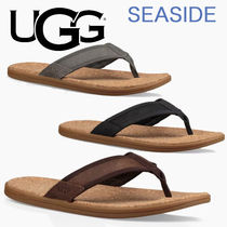 UGG Australia Blended Fabrics Bi-color Plain Leather Sport Sandals
