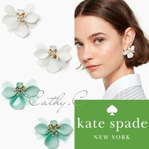 kate spade new york Blended Fabrics Flower Leather With Jewels Elegant Style