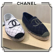 CHANEL Other Check Patterns Round Toe Casual Style Unisex Flats
