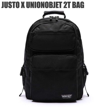 Unisex Nylon Street Style Plain Backpacks