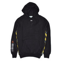 Off-White Pullovers Street Style Long Sleeves Plain Cotton Hoodies