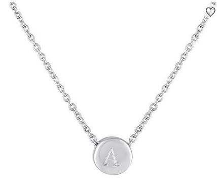 Initial Silver 14K Gold Elegant Style Necklaces & Pendants