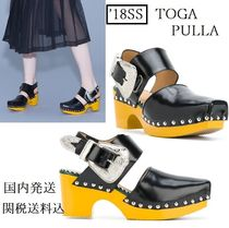 TOGA Square Toe Platform Moccasin Casual Style Studded