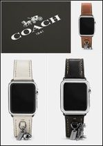 Coach Casual Style Unisex Studded Leather Watches