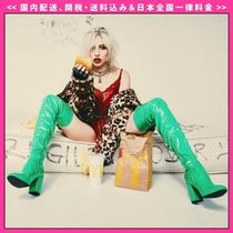 DOLLS KILL Casual Style Plain Chunky Heels Over-the-Knee Boots