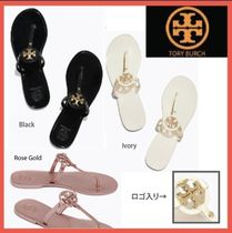 Tory Burch Casual Style Plain Flip Flops Flat Sandals