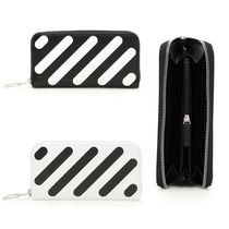Off-White Stripes Leather Long Wallets