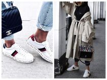 GUCCI Casual Style Street Style Plain Leather Low-Top Sneakers