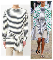 J W ANDERSON Pullovers Stripes Long Sleeves Cotton Long Sleeve T-Shirts