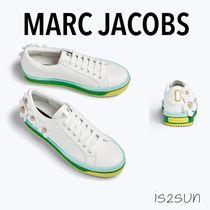 MARC JACOBS Stripes Flower Patterns Round Toe Casual Style Leather