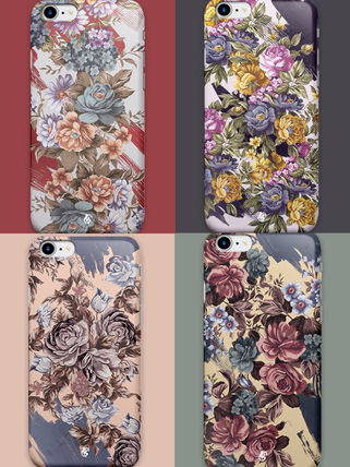 Flower Patterns Unisex Street Style Bi-color