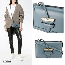LOEWE Casual Style 2WAY Plain Leather Shoulder Bags