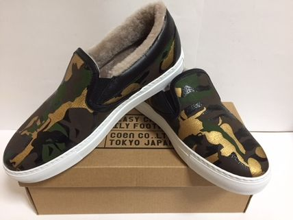 Camouflage Street Style Leather Loafers & Slip-ons