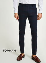 TOPMAN Other Check Patterns Skinny Fit Pants
