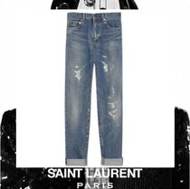 Saint Laurent Casual Style Street Style Plain Cotton Medium
