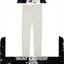 Saint Laurent Casual Style Street Style Plain Cotton Long