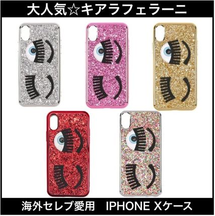Blended Fabrics Plain Smart Phone Cases