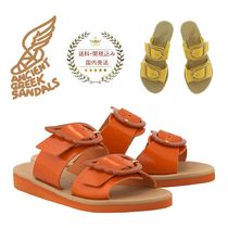 ANCIENT GREEK SANDALS Open Toe Plain Leather Handmade Sandals