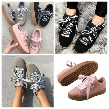 Platform Round Toe Casual Style Suede Street Style