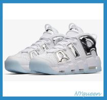 Nike AIR MORE UPTEMPO Casual Style Street Style Plain Leather Low-Top Sneakers