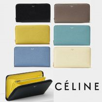 CELINE Zipped Calfskin Bi-color Long Wallets