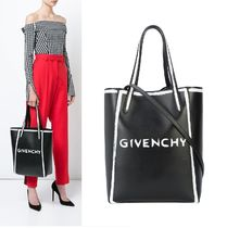 GIVENCHY A4 2WAY Plain Leather Totes