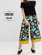 ASOS Flower Patterns Casual Style Culottes & Gaucho Pants