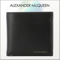 alexander mcqueen Plain Leather Folding Wallets