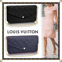 Louis Vuitton MONOGRAM EMPREINTE Monogram Blended Fabrics 2WAY Bi-color Chain Leather