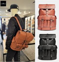 Coach A4 Leather Backpacks