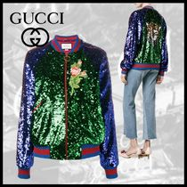 GUCCI Casual Style Other Animal Patterns Varsity Jackets