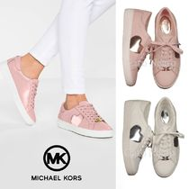 Michael Kors Heart Lace-up Leather Low-Top Sneakers
