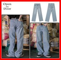 OPEN THE DOOR Casual Style Unisex Street Style Jeans