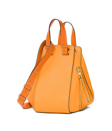 Casual Style Calfskin 3WAY Bi-color Handmade Shoulder Bags